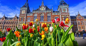 Amsterdam in the Spring with Tulips 2017