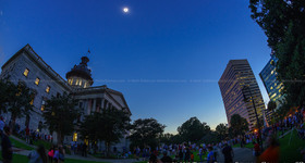 Total Solar Eclipse from Downtown Columbia, SC