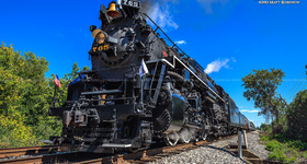 Steam Engine NKP 765 visits St. Louis area