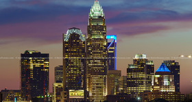 Charlotte Skyline at night – September 2014