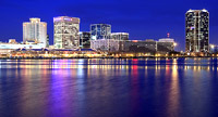 Norfolk and Virginia Beach Skyline