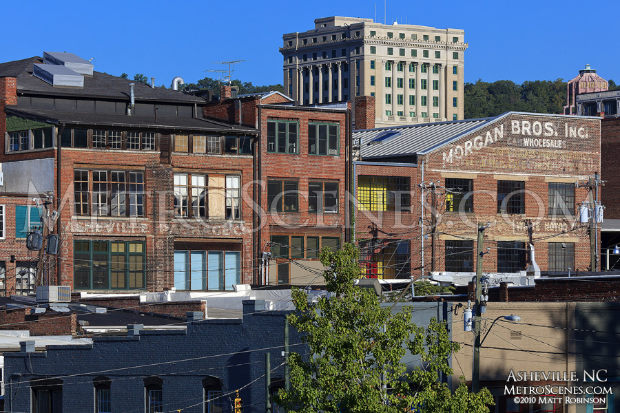 Old Asheville Package and Morgan Brothers Wholesale Buildings