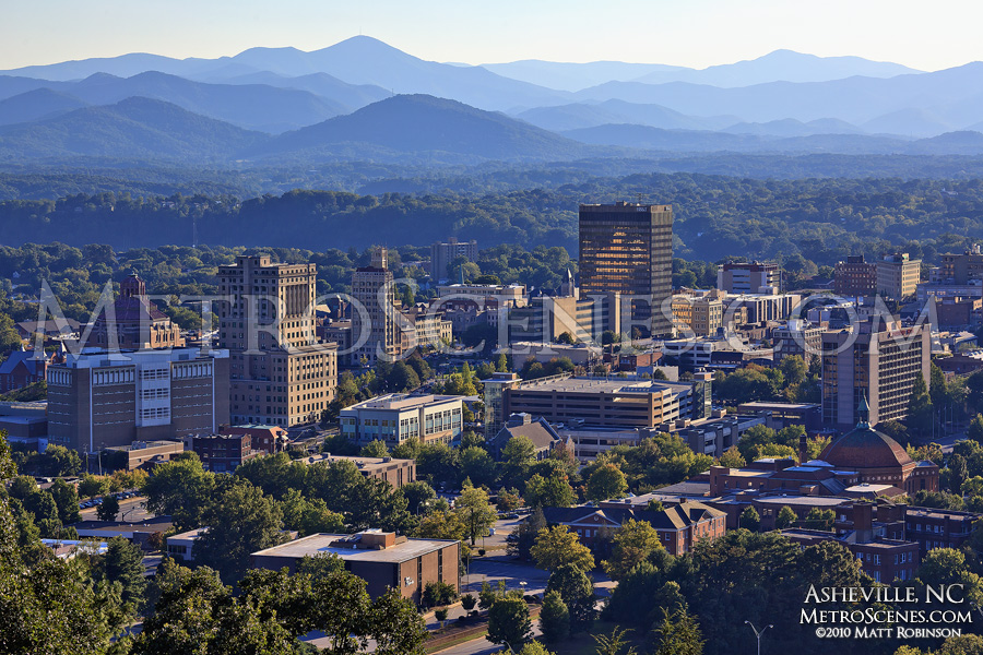 Mountain town Asheville