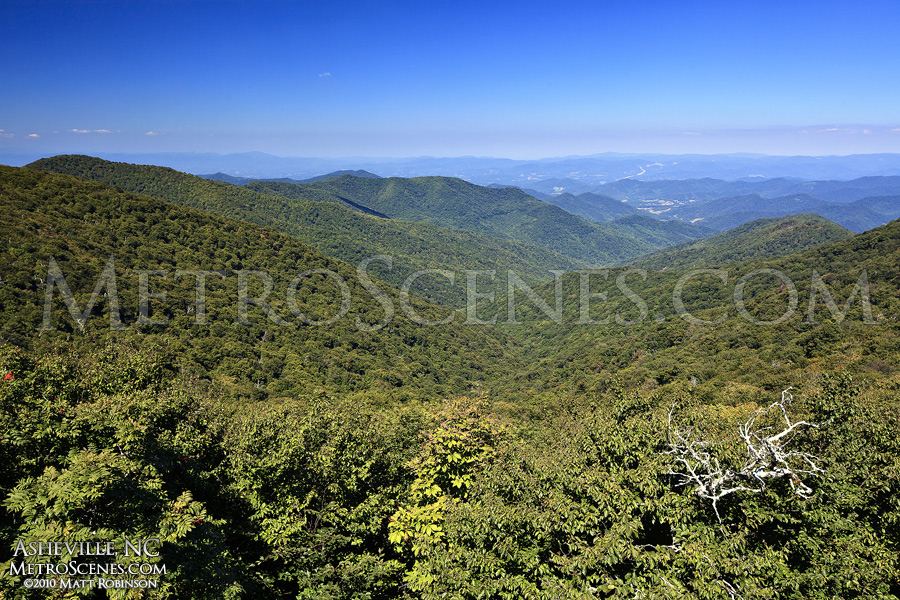 Blue Ridge Parkway view in North Carolina