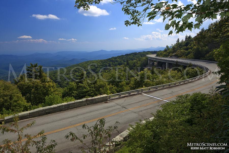 Linn Cove Viaduct on the Blue Ridge Parkway near Grandfather Mountain,  North Carolina