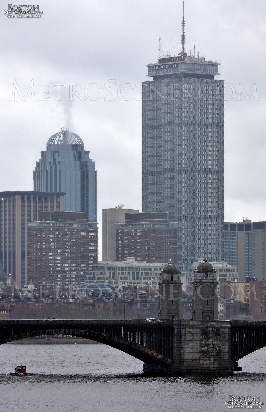 Prudential Center and the Charles River