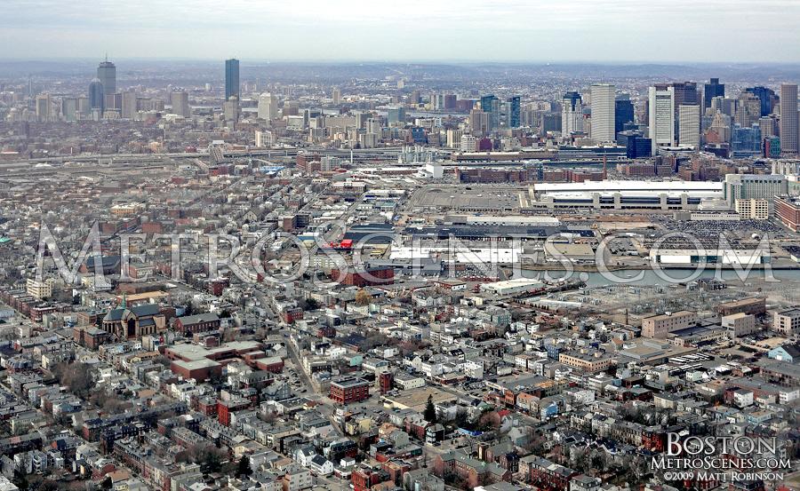 Aerial of South Boston