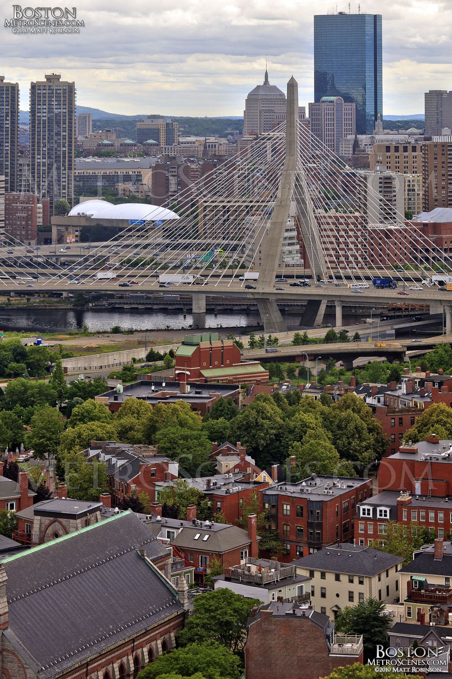 Zakim Bridge from Bunker Hill Monument