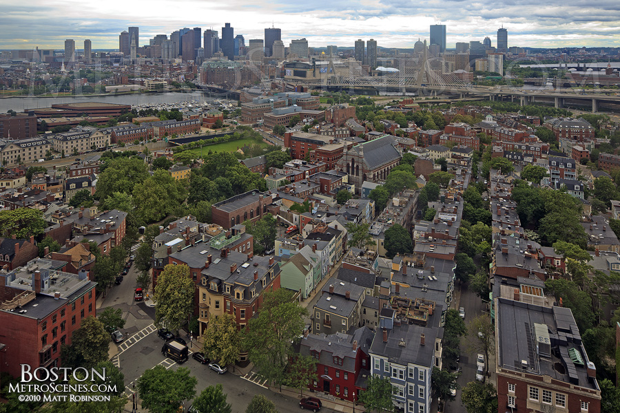 Bunker hill monument view