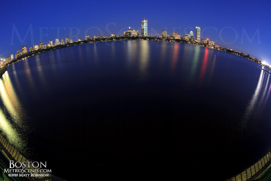 Fisheye of the Charles River
