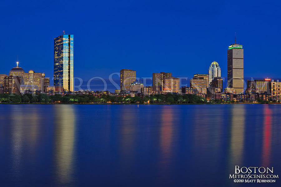 Magic hour Boston Back Bay Skyline