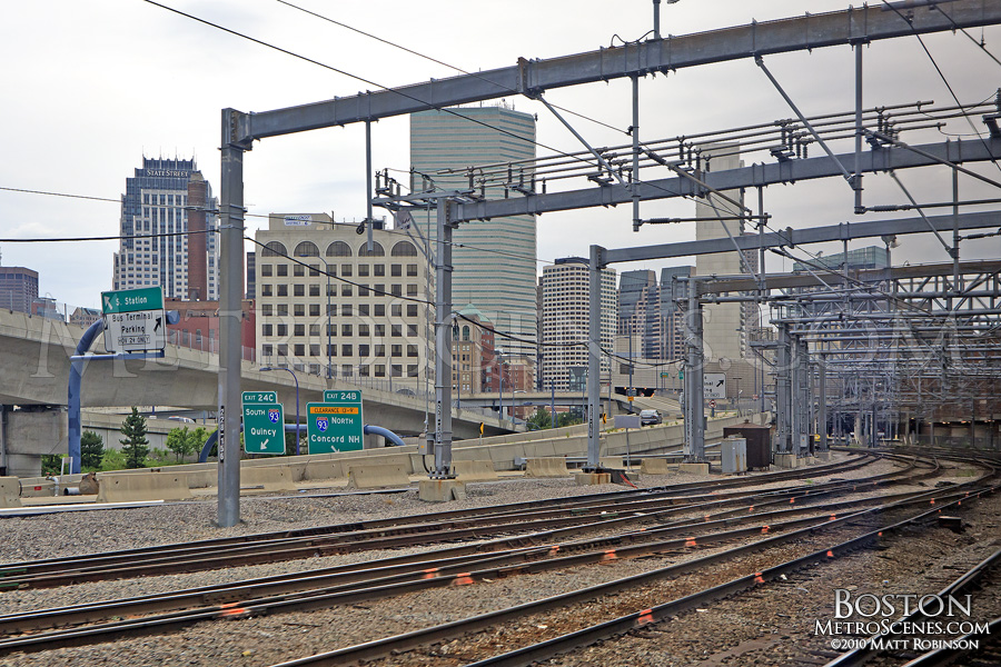 Railroad in and out of South Station