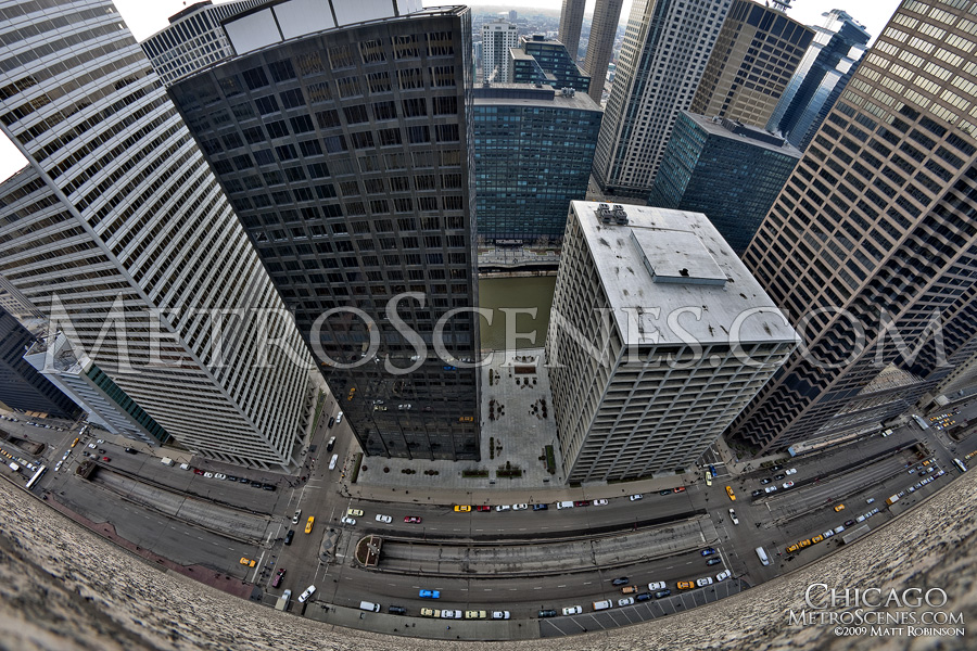 Fisheye from 125 South Wacker