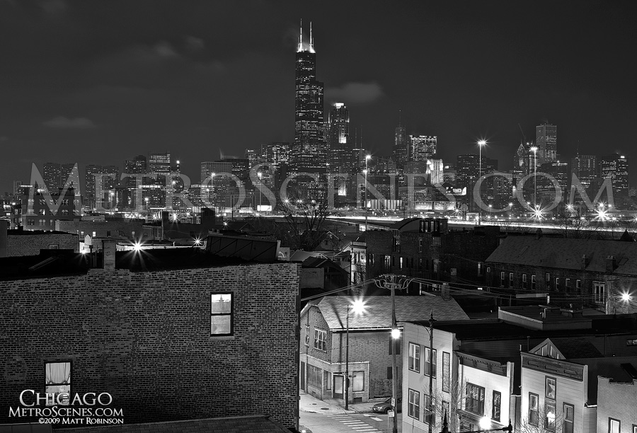 Sears Tower anchors the city from South Halsted Street