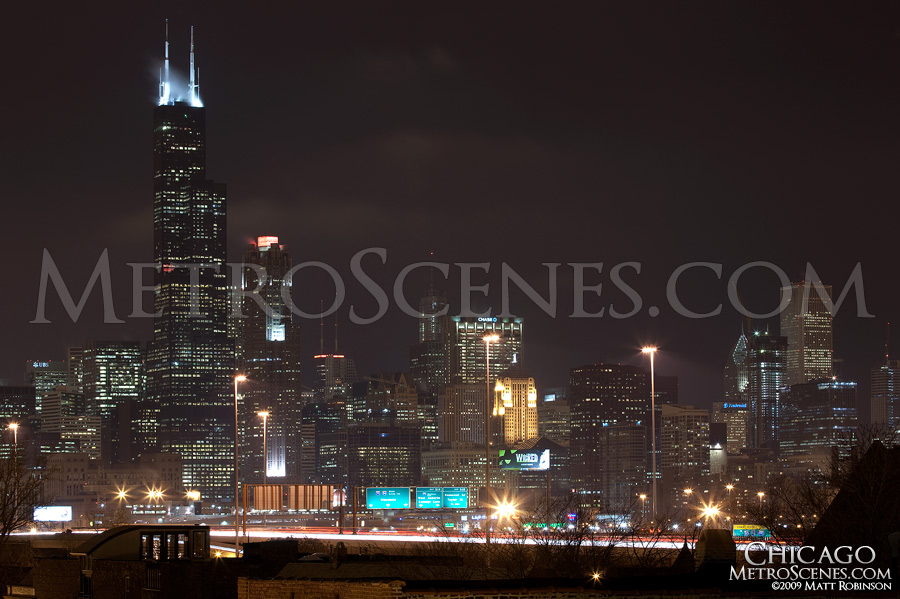 Chicago skyline from Pilsen