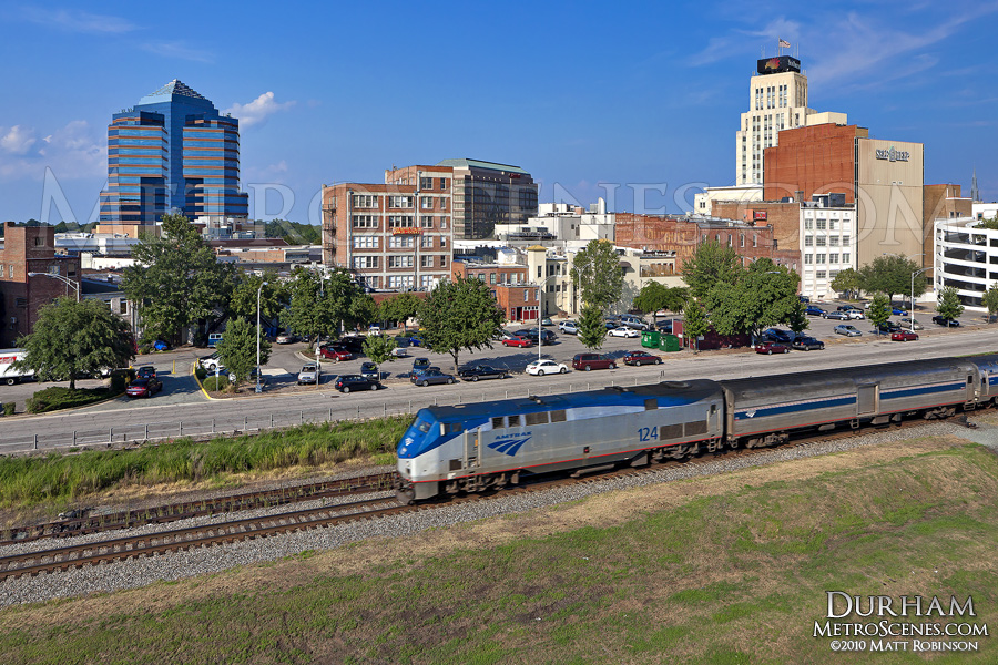 Amtrak rolls through Downtown Durham