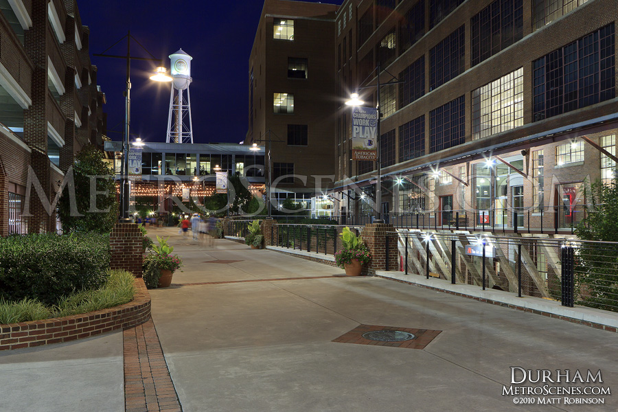 American Tobacco District at night