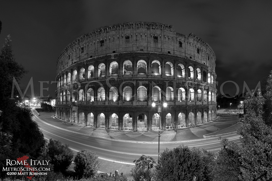 Colosseum in black and white
