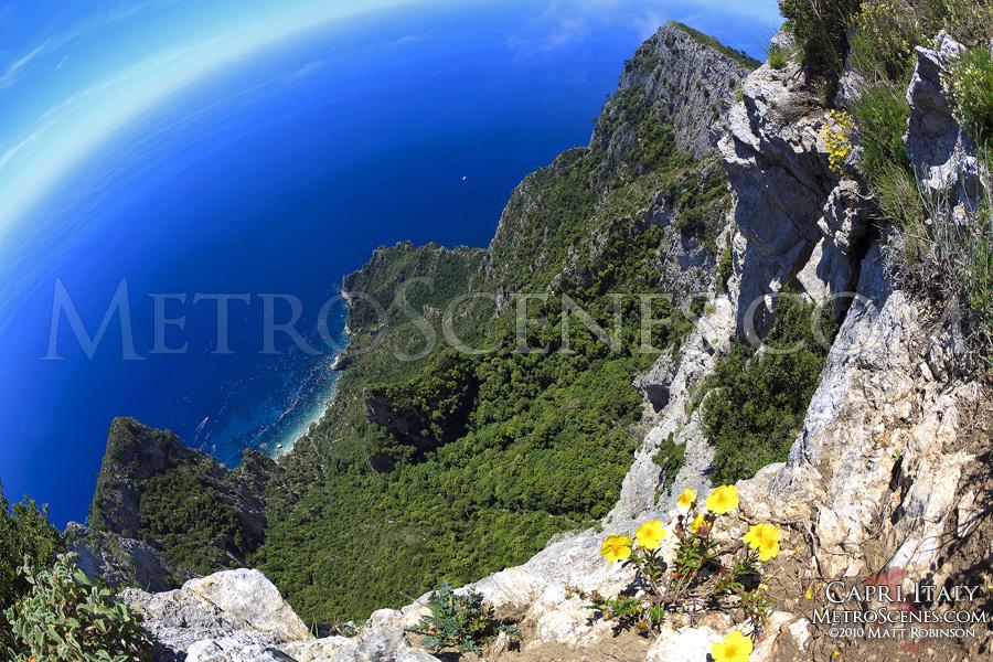 Views from the Isle of Capri, Italy
