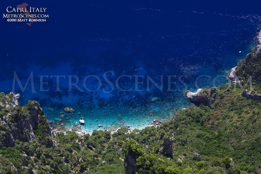 Blue waters of the Island of Capri