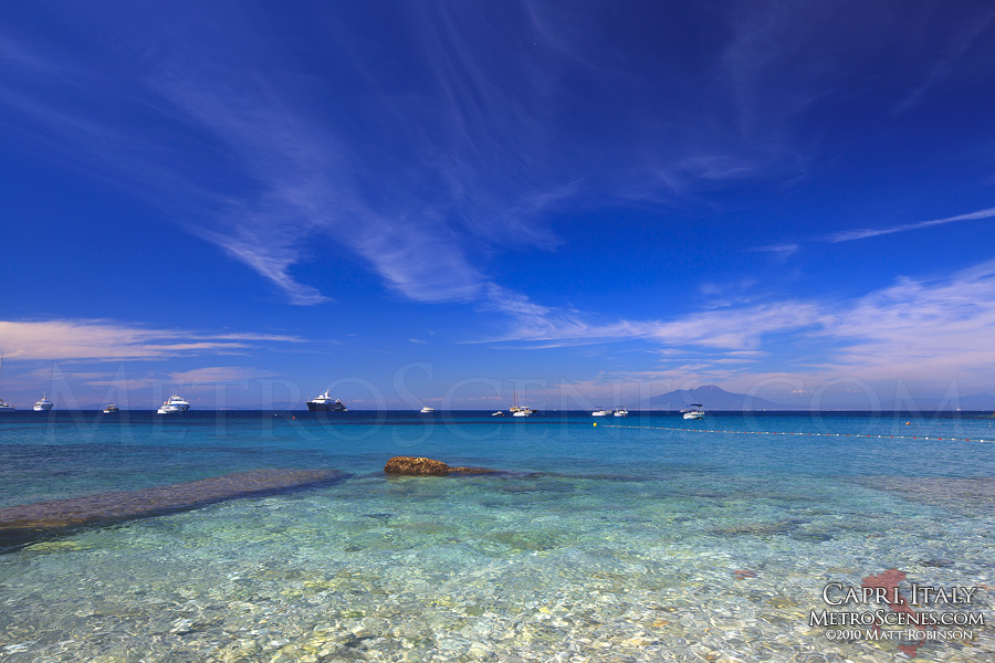 Clear waters in Capri