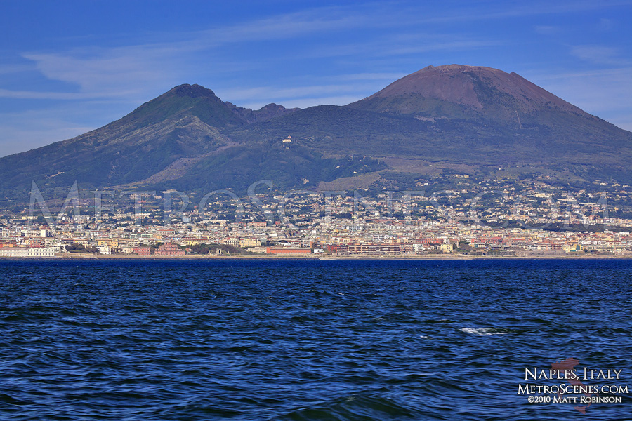 Mount Vesuvius and surrounding settlement