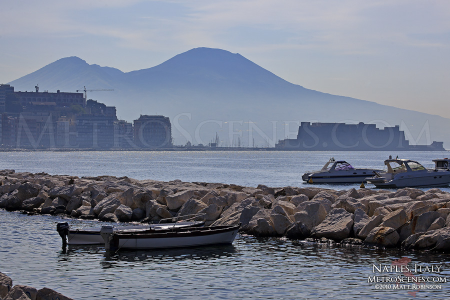 Morning mist around Mount Vesuvius