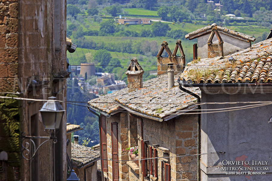 Rooftops in Orvieto, Italy