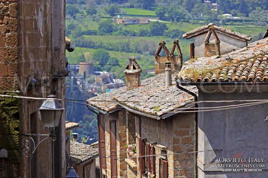 Rooftops in Orvieto, Italy