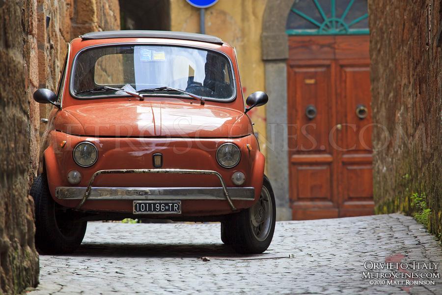 Fiat 500 in Orvieto