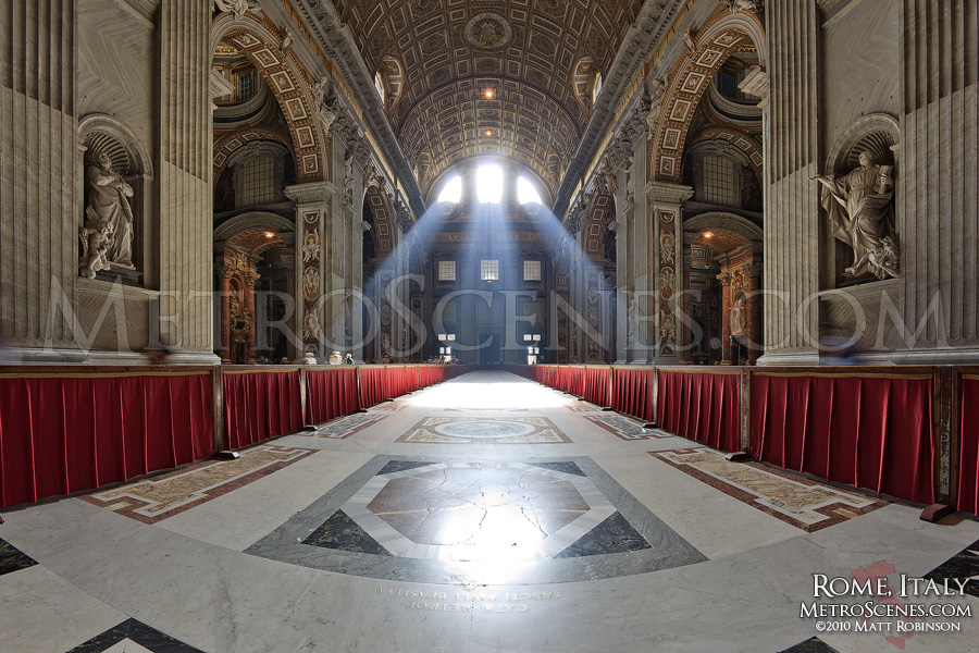 Beams of Light shine into Saint Peter's Basilica