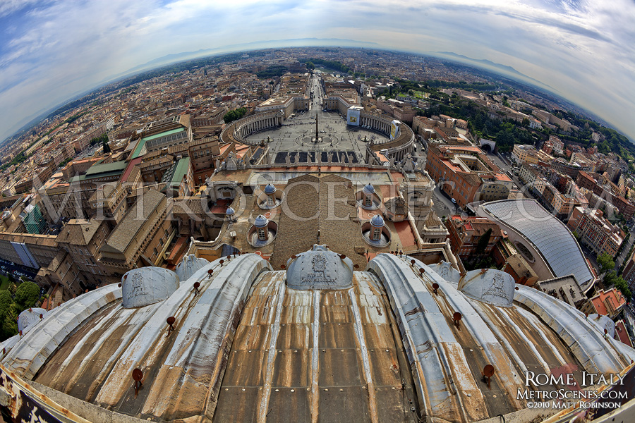 Rome from the top of Saint Peters Basilica