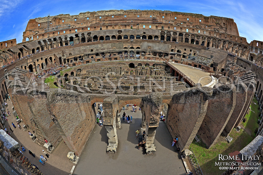 Fisheye of the Roman Colosseum