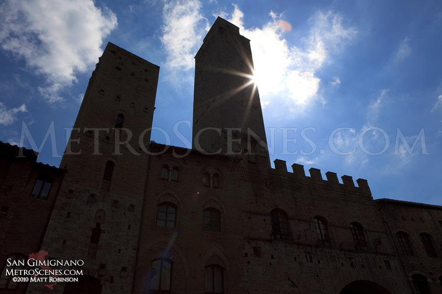 Sunburst in San Gimignano