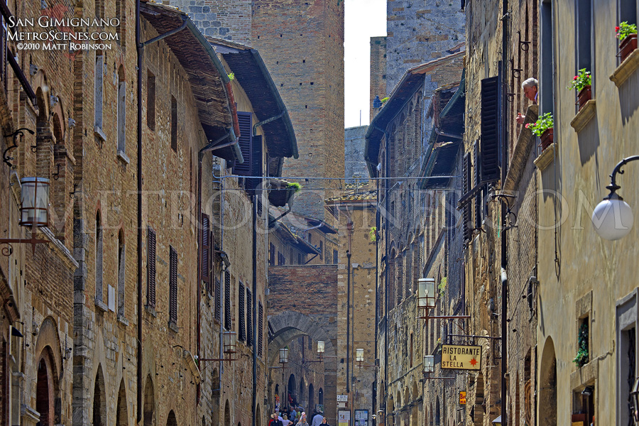 Terminating views in San Gimignano