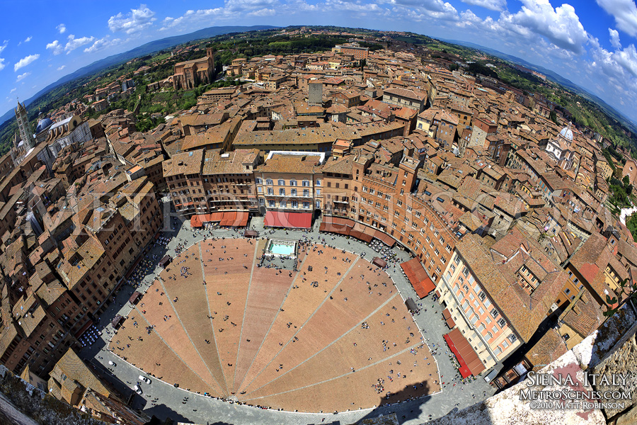 Fisheye view above Siena