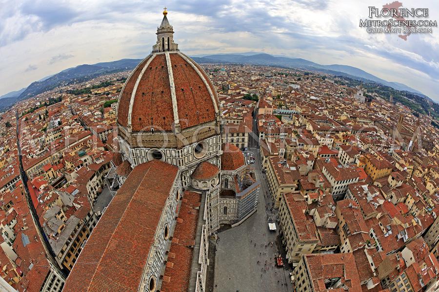 Fisheye over Florence, Italy