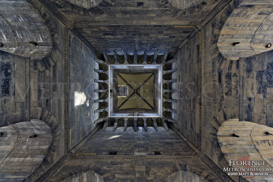 Interior of the Duomo belltower in Firenze