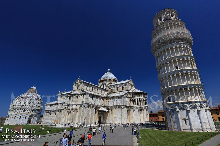 The Leaning Tower of Pisa in the Square of Miracles