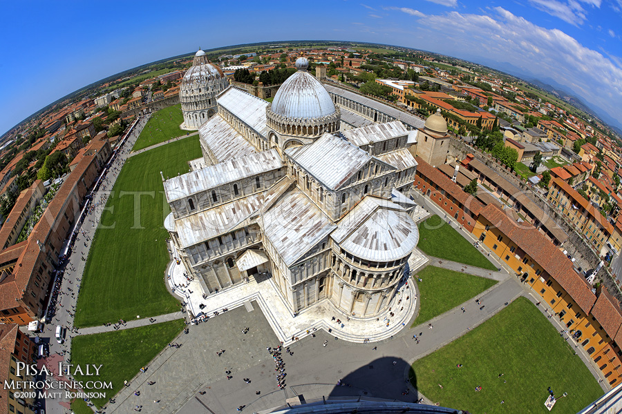 Square of Miracles from the Leaning Tower of Pisa