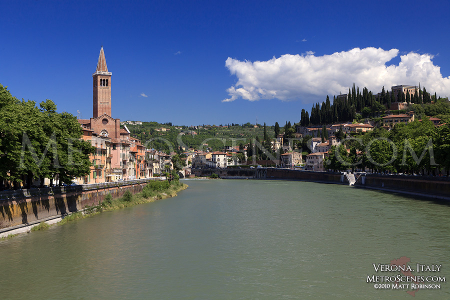 Adige River in Verona, Italy