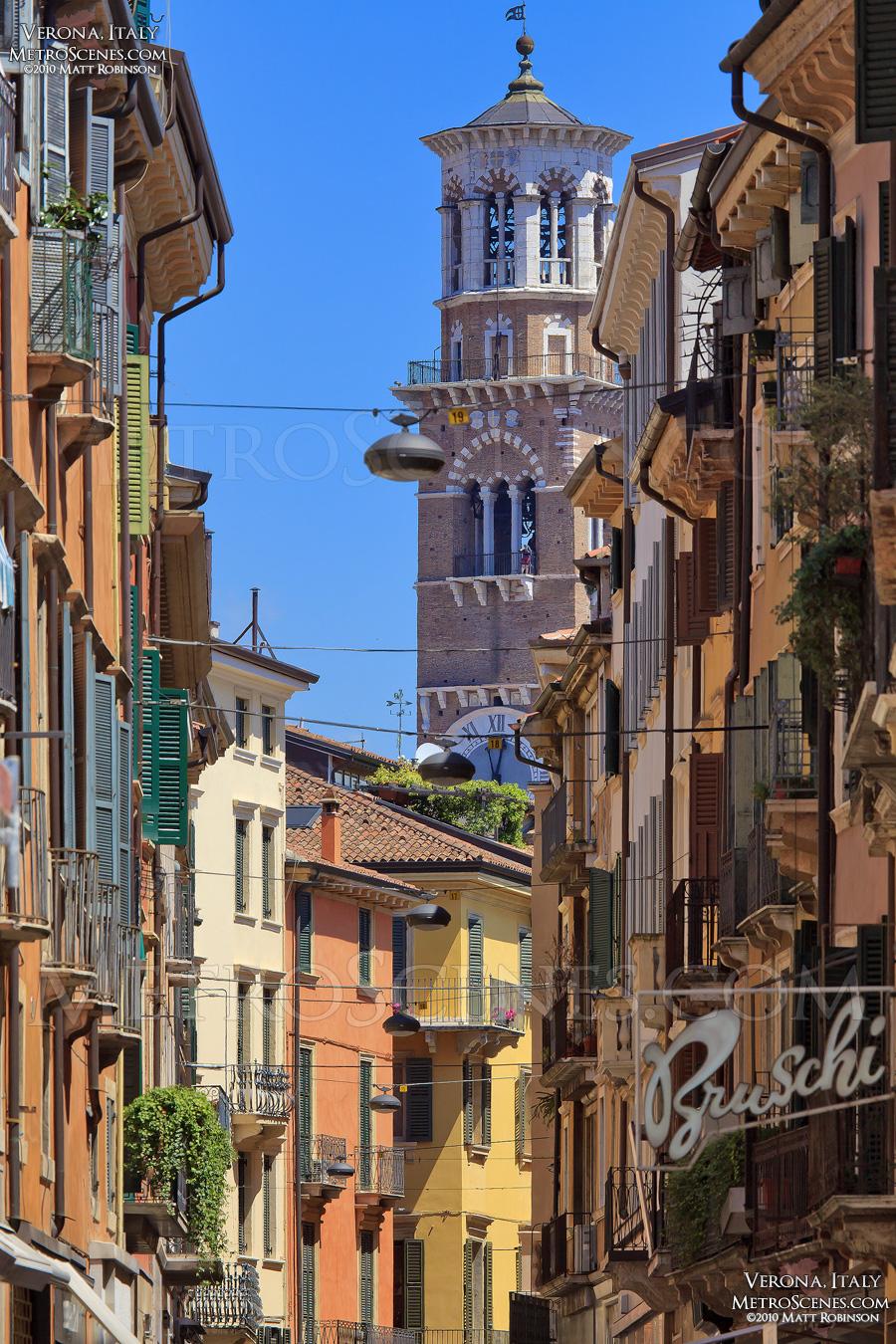 Colorful facades in Verona
