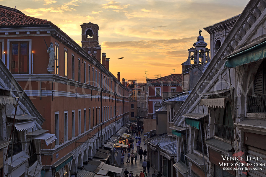 Sunset from the Rialto Bridge