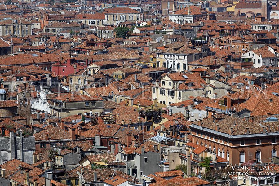 Density of Venice, Italy