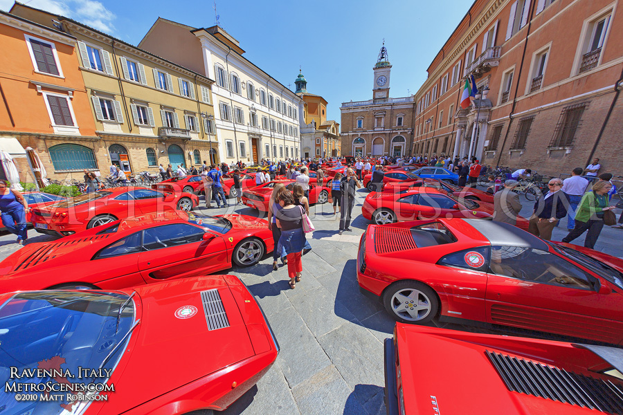 Ferraris in Piazza del Popolo, Ravenna, Italy