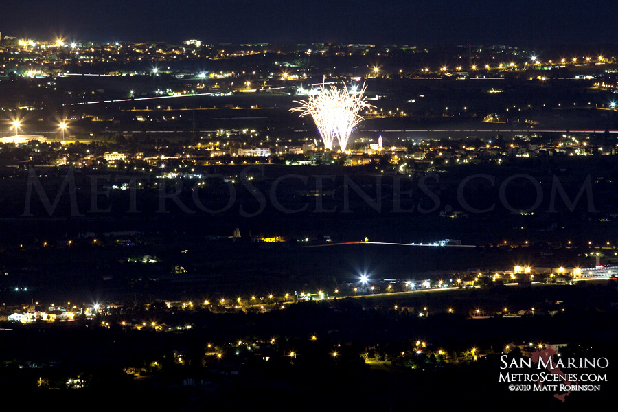 Fireworks from San Marino