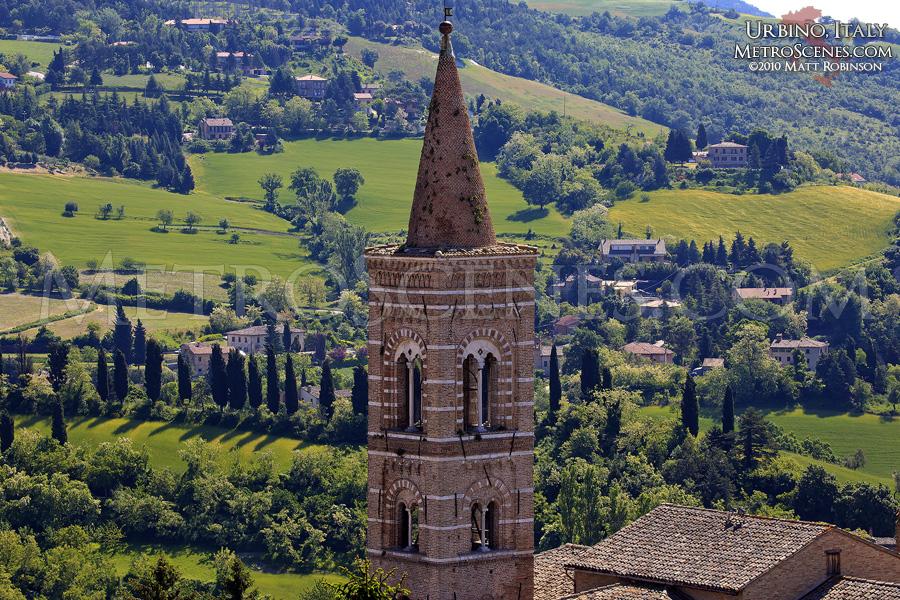 Urbino hillside and Tower