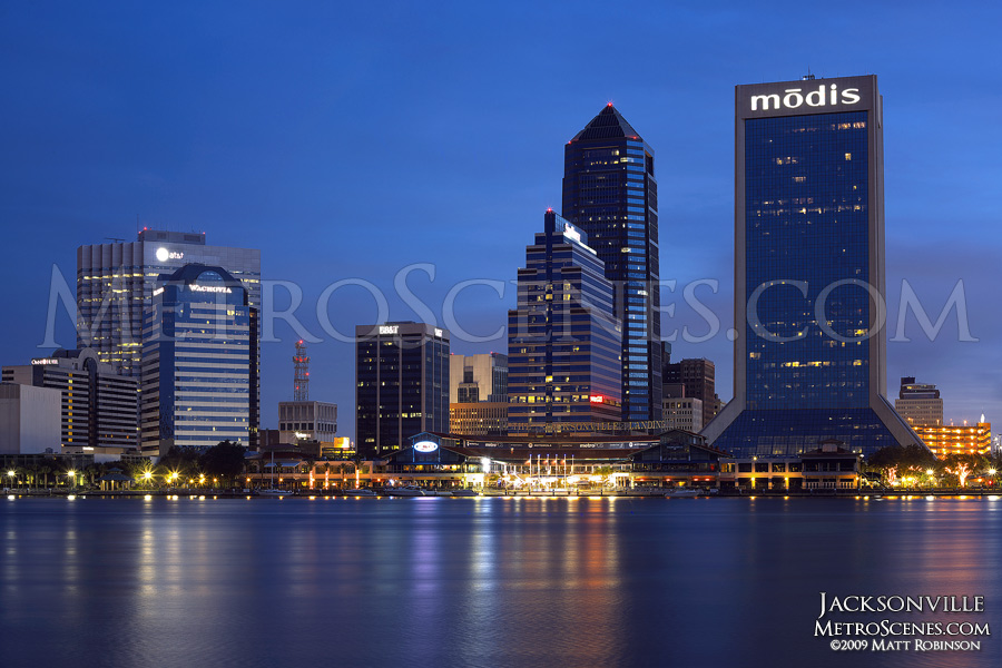 Jacksonville Skyline at night