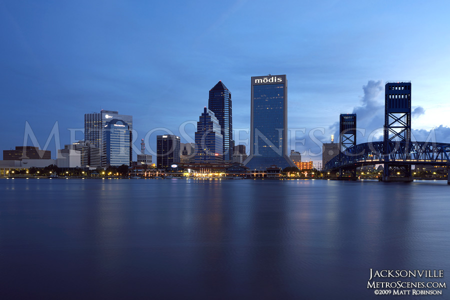 Jacksonville Skyline across St. Johns River
