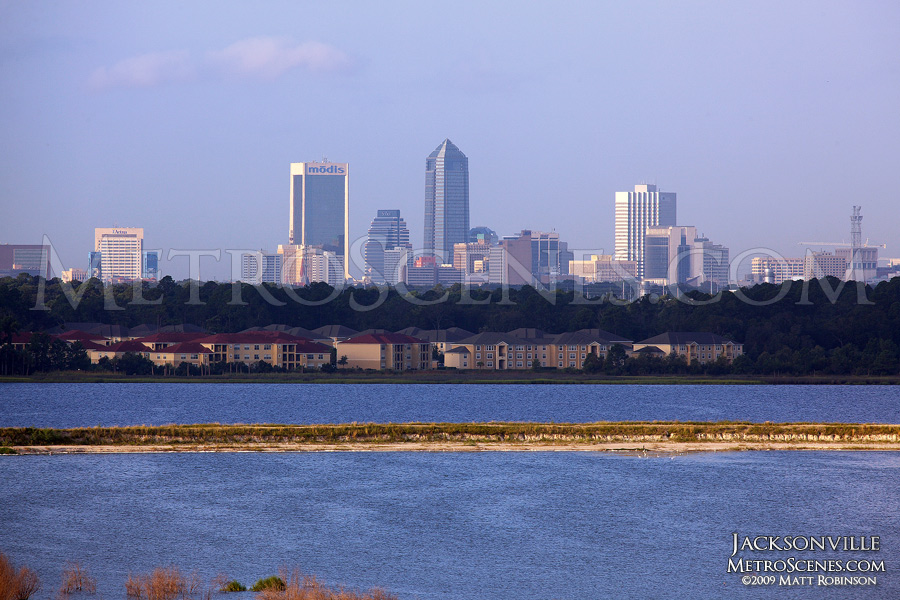 Distant view of Downtown Jacksonville